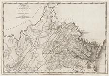 Virginia Map By Mathew Carey