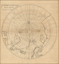 Northern Hemisphere and Polar Maps Map By John Senex / Edmund Halley / Nathaniel Cutler