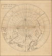 Northern Hemisphere and Polar Maps Map By John Senex / Edmund Halley / Nathaniel Cutler