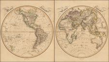 World and World Map By William Home Lizars