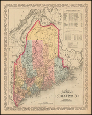 New England and Maine Map By Charles Desilver