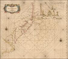 Pascaarte van Nieu Nederlandt uytgegeven door Arnold Colom By Arnold Colom