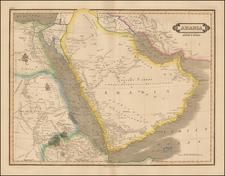 Middle East and Arabian Peninsula Map By Daniel Lizars