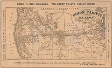 Plains, Southwest, Rocky Mountains and California Map By Union Pacific Railroad Company