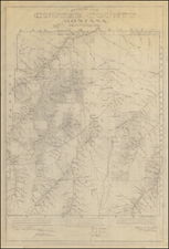 Montana Map By William P. Flynn