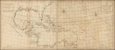 South, Southeast, Caribbean and Central America Map By John Senex / Edmund Halley / Nathaniel Cutler / Samuel Parker