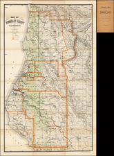 California Map By Britton & Rey / J.N. Lentell