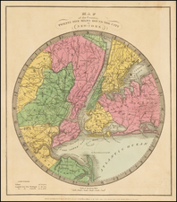 New York City Map By David Hugh Burr