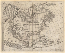 Southeast, North America and California as an Island Map By Henry Briggs