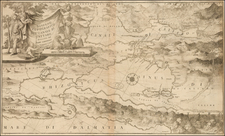 Balkans Map By Vincenzo Maria Coronelli