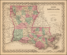 South Map By Joseph Hutchins Colton