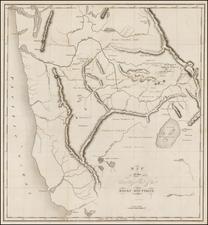 Rocky Mountains, Oregon, Washington and California Map By Benjamin L.E. Bonneville