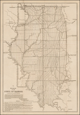 Midwest and Illinois Map By U.S. General Land Office
