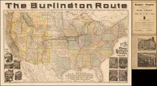 United States Map By Rand McNally & Company / Chicago Burlington & Quincy Railroad Chicago Burlington & Quincy Railroad