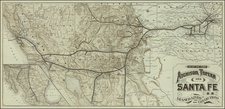 Plains, Southwest, Rocky Mountains and California Map By Poole Brothers