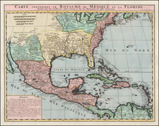 United States, Florida, South, Southeast, Texas, Midwest and Southwest Map By Henri Chatelain