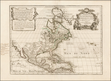 North America Map By Guillaume De L'Isle