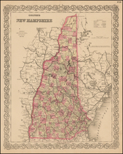 New England and New Hampshire Map By G.W.  & C.B. Colton