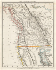 Oregon, California and Canada Map By Carl Flemming
