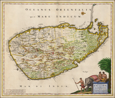 India and Other Islands Map By Nicolaes Visscher I
