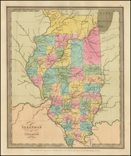 Midwest and Illinois Map By David Hugh Burr