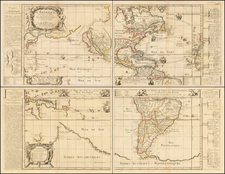 Western Hemisphere, Pacific, California as an Island and America Map By Pierre Du Val