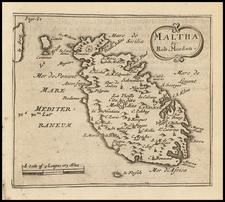 Malta Map By Robert Morden
