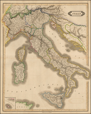 Italy and Balearic Islands Map By William Home Lizars