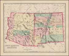 Southwest Map By O.W. Gray
