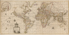 World and World Map By Robert Morden  &  William Berry