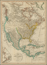 North America Map By Weimar Geographische Institut