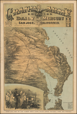California and San Francisco & Bay Area Map By Britton & Rey
