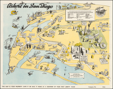 Pictorial Maps and California Map By United States Naval Training Center