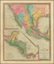 Texas, Southwest and California Map By David Hugh Burr