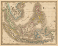 Southeast Asia, Philippines and Indonesia Map By Daniel Lizars
