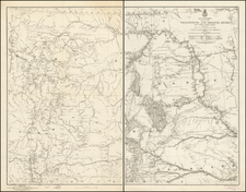 Plains, North Dakota, South Dakota, Rocky Mountains and Wyoming Map By W.F. Raynolds