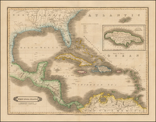 Florida, South, Caribbean and Central America Map By David Lizars