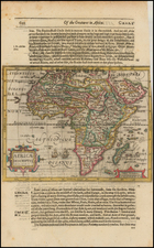 Africa Map By Jodocus Hondius / Samuel Purchas