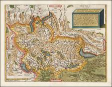 Switzerland Map By Abraham Ortelius