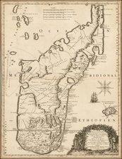 African Islands, including Madagascar Map By Guillaume Sanson - Pierre Mariette