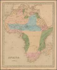 Africa and Africa Map By Thomas Gamaliel Bradford