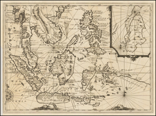 Southeast Asia, Philippines, Singapore and Indonesia Map By Réne Augustin Constantin De Renneville