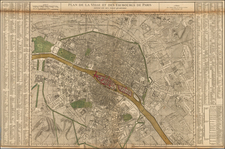 Paris Map By Gilles Robert de Vaugondy