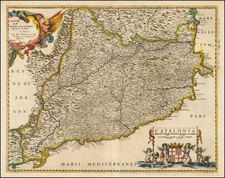 Spain Map By Pierre Mariette