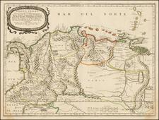 Colombia, Peru & Ecuador and Venezuela Map By Nicolas Sanson