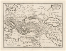 Italy, Greece, Turkey, Central Asia & Caucasus, Middle East and Turkey & Asia Minor Map By Joan Jacobum de Rubeis / Michel-Antoine Baudrand