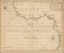 Africa and West Africa Map By John Senex / Edmund Halley / Nathaniel Cutler