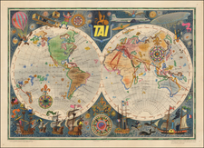 World and Pictorial Maps Map By Luc Marie Bayle