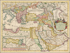 Turkey, Mediterranean, Middle East, Turkey & Asia Minor, Egypt and North Africa Map By Giacomo Giovanni Rossi - Giacomo Cantelli da Vignola