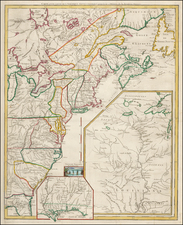 United States, South, Midwest and American Revolution Map By George Louis Le Rouge